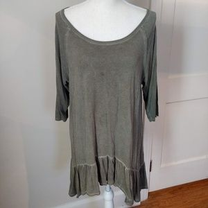 DANTELLE Olive green tunic XL